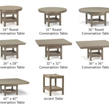 Conversation/Accent Tables